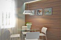 отделка стен ламинатом на кухне 3