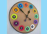 часы из картона для детей 1