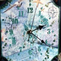 часы декупаж 19