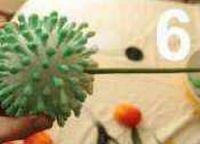 цветок из ватных палочек 6