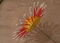 цветы из ватных палочек 5