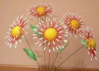 цветы из ватных палочек 6