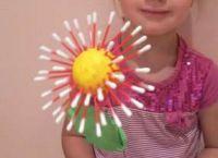 цветы из ватных палочек 8