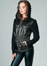 Куртка с вязанными рукавами 7