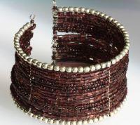 Широкие браслеты из бисера 6