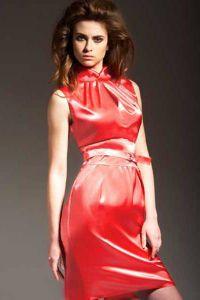 Платье с воротником стойка 2