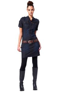 Платье с воротником стойка 4