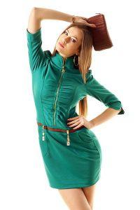 Платье с воротником стойка 5