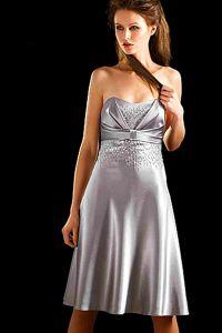 Серебристое платье 1