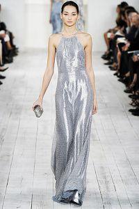 Серебристое платье 4