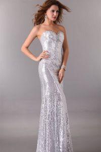 Серебристое платье 6