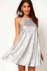 Серебристое платье 8