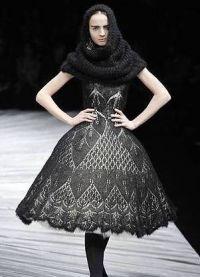 Вязаное платье на зиму 1