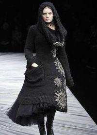 Вязаное платье на зиму 2