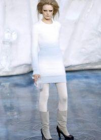 Вязаное платье на зиму 3