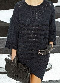 Вязаное платье на зиму 4
