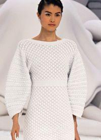 Вязаное платье на зиму 5