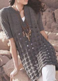 Вязаное платье на зиму 7