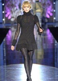 Вязаное платье на зиму 8