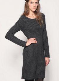 Вязаное платье на зиму 9