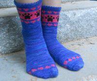 Вязаные спицами носки с узором 7