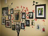 Дерево на стене с фотографиями 9