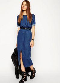 джинсовое платье 2015 2