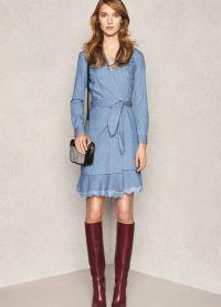 джинсовое платье 2015 5