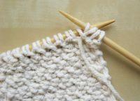 Узор плетенка спицами 15