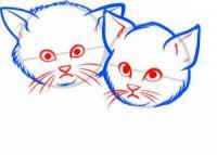 как нарисовать кошку для детей 4