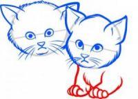 как нарисовать кошку для детей 5
