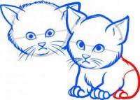 как нарисовать кошку для детей 6