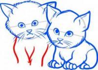как нарисовать кошку для детей 7