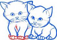 как нарисовать кошку для детей 8