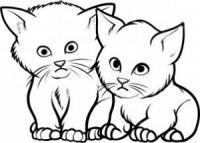 как нарисовать кошку для детей 9