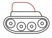 как нарисовать танк ребенку 7