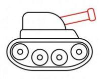 как нарисовать танк ребенку 8