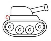как нарисовать танк ребенку 9