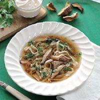 Рецепт грибной лапши
