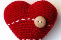 как связать сердечко крючком 5 3