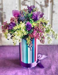 как украсить вазу своими руками 1