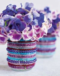 как украсить вазу своими руками 2