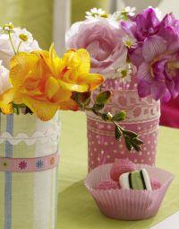 как украсить вазу своими руками 4