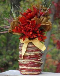 как украсить вазу своими руками 5