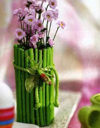 как украсить вазу своими руками 6