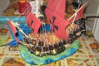 корабль из конфет мастер класс43