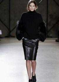 кожаные юбки фасоны 2015 3