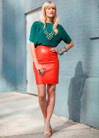 кожаные юбки фасоны 2015 7