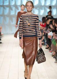 кожаные юбки фасоны 2015 8