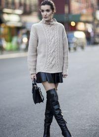 кожаные юбки фасоны 2015 9